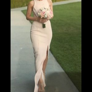 Nicholas Pink Dress / Bandage-Waist Cutout Gown